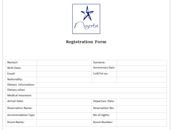 Class Registration Form Template Word Boatremyeaton