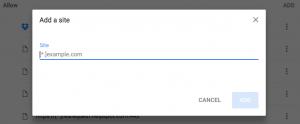 Chrome popup blocker add site